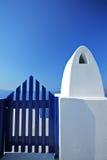 błękitny drzwiowy drewniany Fotografia Royalty Free