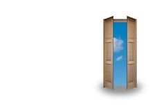 błękitny drzwiowy niebo Fotografia Royalty Free