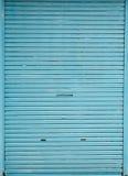 błękitny drzwiowy sklep Zdjęcie Stock