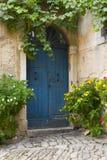 błękitny drzwiowy stary obraz royalty free