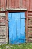 błękitny drzwiowy stary drewniany Fotografia Stock