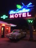 Błękitny dymówka motel, Tucumcari Obraz Royalty Free