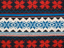 błękitny dziania ornamentu czerwony tekstury biel Zdjęcia Royalty Free