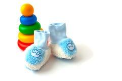 błękitny dzieci ostrosłupa rzeczy zabawka Zdjęcia Stock