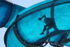 błękitny dzieciaka ślizgowy waterslide Zdjęcie Royalty Free