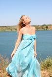 błękitny dziewczyna Obraz Royalty Free