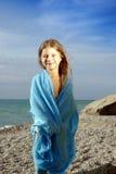 błękitny dziewczyny mały pareo Zdjęcia Stock