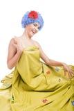 błękitny dziewczyny włosy pozytyw Fotografia Royalty Free