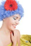 błękitny dziewczyny włosy pozytyw Zdjęcia Stock