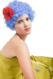 błękitny dziewczyny włosy pozytyw Obrazy Royalty Free