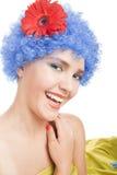 błękitny dziewczyny włosy pozytyw Fotografia Stock