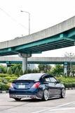 Błękitny ECO Samochodowy sedan w VIP stylu Obraz Stock