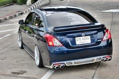 Błękitny ECO Samochodowy sedan w VIP stylu Obraz Royalty Free