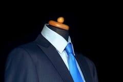 błękitny elegancki kostium Zdjęcie Royalty Free