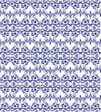 Błękitny elegancki wzór z roczników elementami Fotografia Stock
