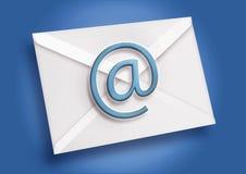 błękitny email Fotografia Royalty Free