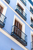 Błękitny façade fotografia stock