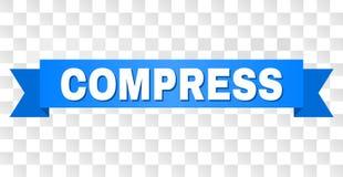 Błękitny faborek z kompresu tekstem ilustracja wektor