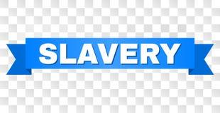 Błękitny faborek z niewolnictwo podpisem ilustracji