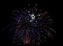 błękitny fajerwerków czerwony biel Obraz Royalty Free