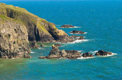 błękitny falez Ireland morze obraz stock