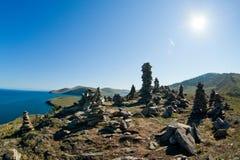 błękitny falez znakomity formularzowy filarów nieba kamień pod cudackim Zdjęcie Royalty Free