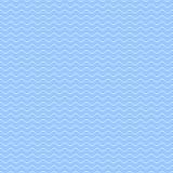 Błękitny falowy wzór - bezszwowy royalty ilustracja