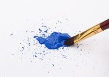 błękitny farba Fotografia Royalty Free