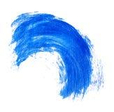 Błękitny farby muśnięcia uderzenie Fotografia Stock