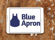 Błękitny fartucha posiłku zestawu usługa logo Zdjęcie Royalty Free