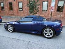 Błękitny Ferrari w Georgetown Fotografia Royalty Free