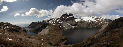 błękitny fiordów gór natury norwegu niebo Obrazy Stock