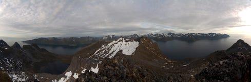 błękitny fiordów gór natury norwegu niebo Obrazy Royalty Free