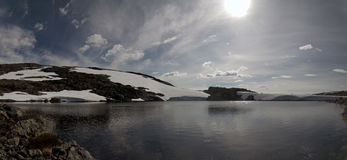 błękitny fiordów gór natury norwegu niebo Obraz Royalty Free