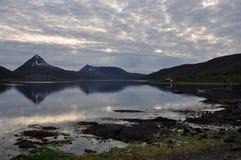 błękitny fiordów gór natury norwegu niebo Fotografia Royalty Free