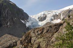 błękitny fiordów gór natury norwegu niebo Zdjęcia Royalty Free