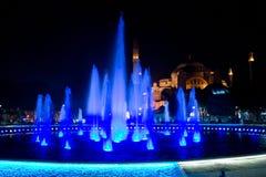 Błękitny fontanna meczet Obrazy Royalty Free