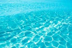 błękitny Formentera czochry turkusu woda Zdjęcie Royalty Free