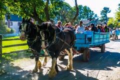 Błękitny furgon przy Landis doliną Zdjęcia Royalty Free