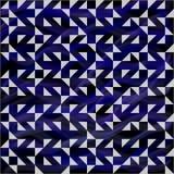 Błękitny geometryczny ornament Obraz Stock