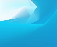 Błękitny geometryczny tło Fotografia Royalty Free