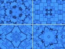 Błękitny geometryczny tło z gwiazdami Zdjęcia Royalty Free