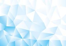 Błękitny geometryczny wzór, trójboka tło, poligonalny projekt Fotografia Stock