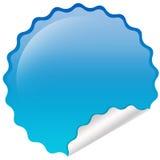 Błękitny glansowany emblemat Obraz Royalty Free