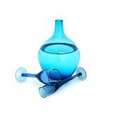 błękitny glassware Zdjęcie Royalty Free