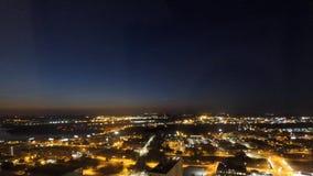 Błękitny godziny nocy upływ Missouri rzeka zdjęcie wideo