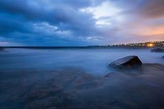 Błękitny godziny seascape Obraz Royalty Free