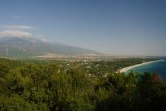 błękitny Greece morza śródziemnomorskiego wody Obrazy Royalty Free