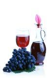 błękitny grona winogrona czerwone wino obraz stock