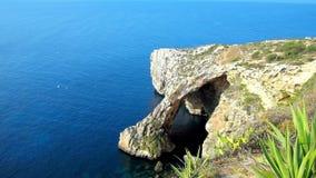 błękitny grota Malta zbiory wideo